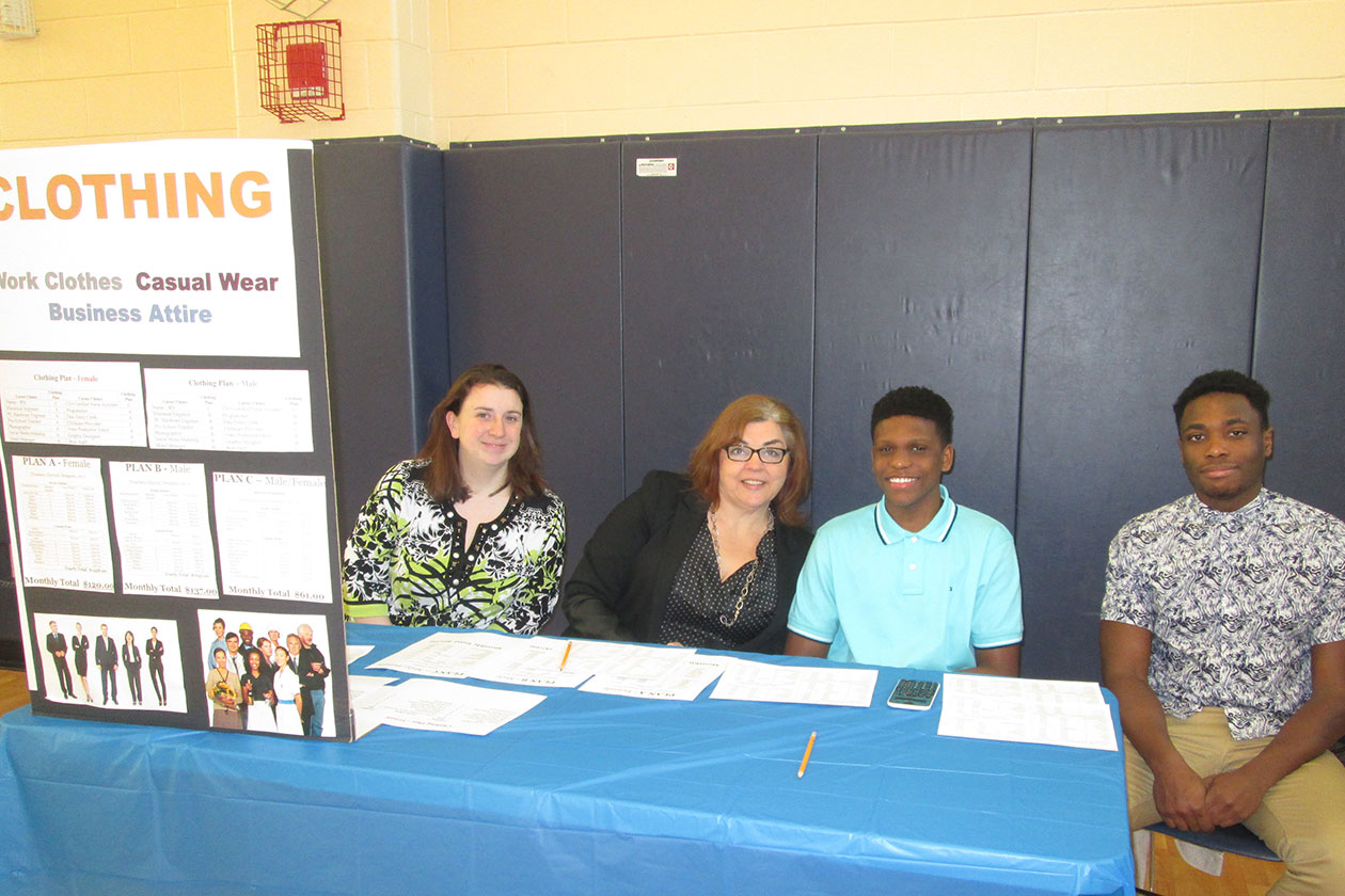 Credit for Life table with volunteers and students