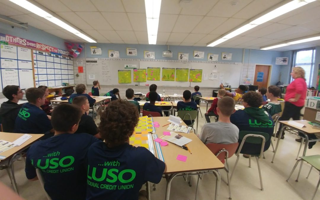 LUSO FEDERAL CREDIT UNION SPONSORS JA FOR MIDDLE GRADERS