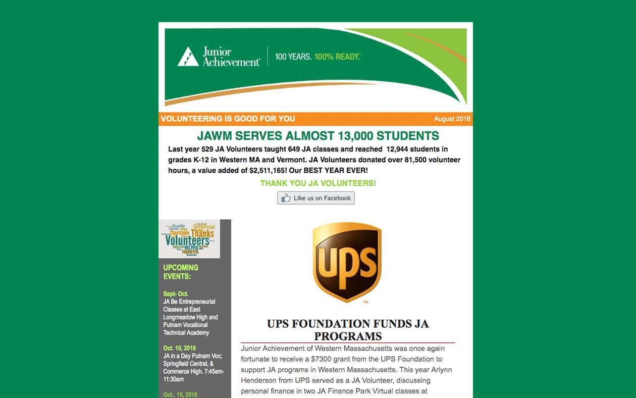 JA monthly newsletter