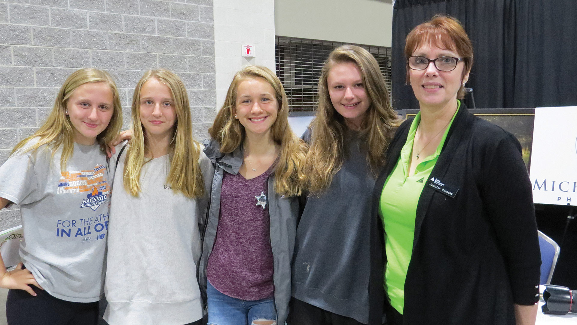 Jennifer Connelly with students
