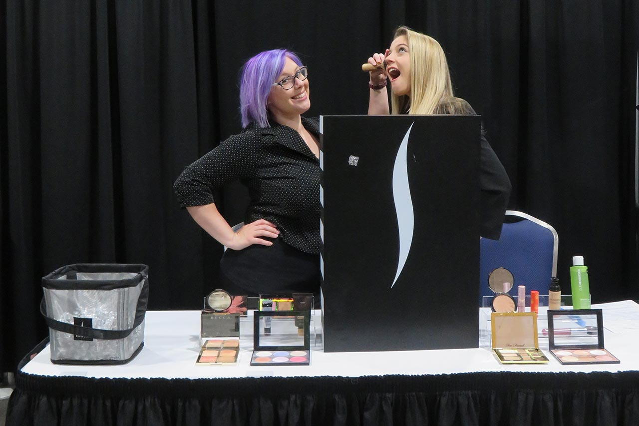 makeup artists booth