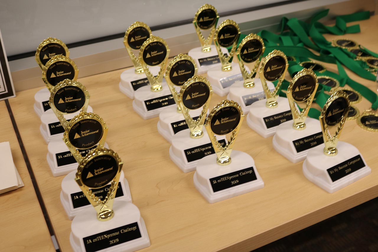 awards on table